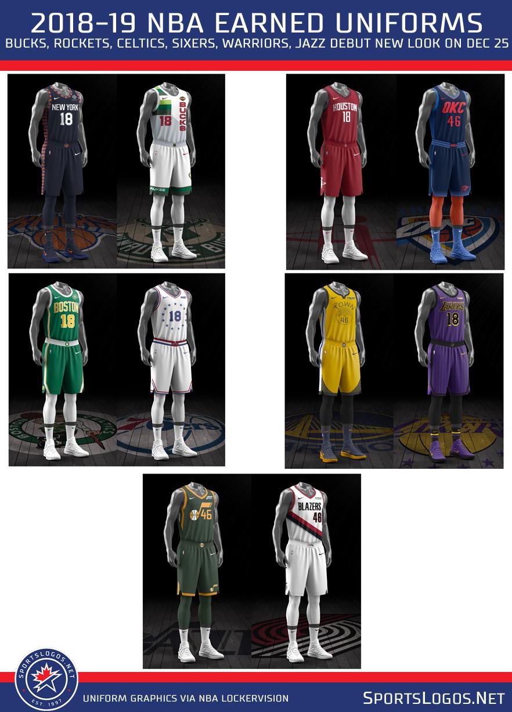 huge selection of 732fb d90a2 Merry Christmas! NBA Debuts Earned Uniforms Dec 25th   Chris ...
