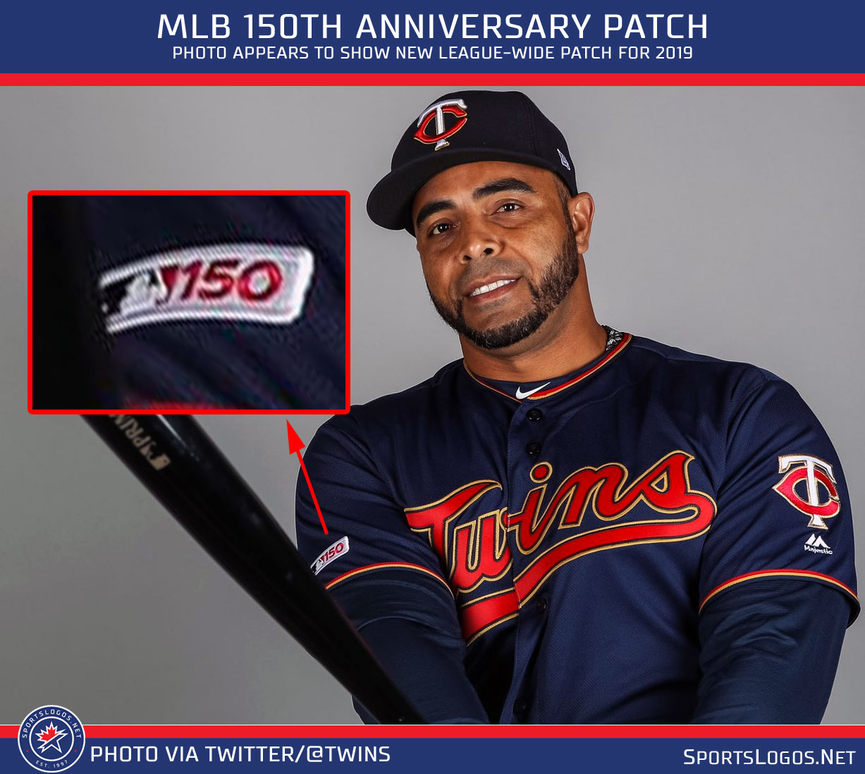 a088fa29a15 MLB 150th Anniversary Patch for 2019 Spotted