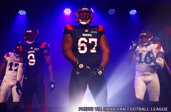 87df199ac The Canadian Football League s Montreal Alouettes officially unveiled their  new logo and uniforms for the 2019 season at an event held tonight at  Montreal s ...
