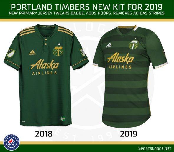 18fd151e6 The Portland Timbers with a nice update to their primary jersey
