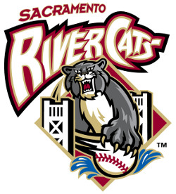 The home whites feature the River Cats script on the jersey and the team s  RC cap logo 53c693f98231
