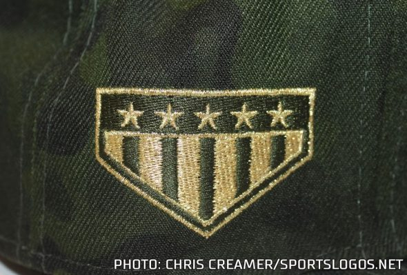 9bdc0748c ... jersey patch only on actual Armed Forces Day — May 18th. You can see  all the caps here. In addition to the team logo being rendered in tan, ...