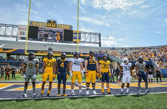 West Virginia Reveals New Football Uniforms