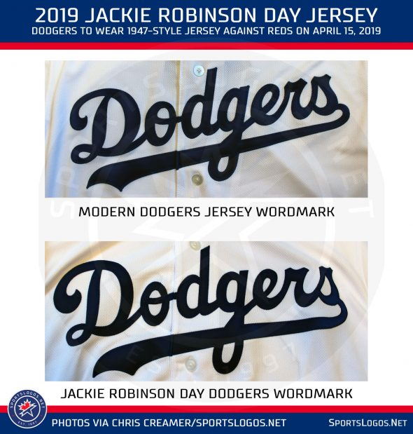 big sale 53d17 947f2 Dodgers Throwback Uniforms, Everyone in 42 for Jackie ...