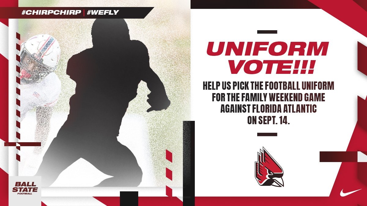 Ball State Announces Football Uniform Fan Vote