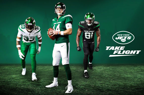 New York Jets unveil new uniforms in glitzy NYC event