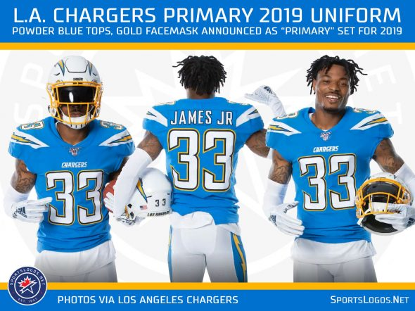 competitive price db8b8 7fce1 LA Chargers Announce Changes to Uniform for 2019 | Chris ...