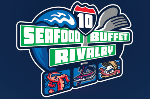 Jumbo Shrimp, Shuckers, Blue Wahoos to play Seafood Buffet Series