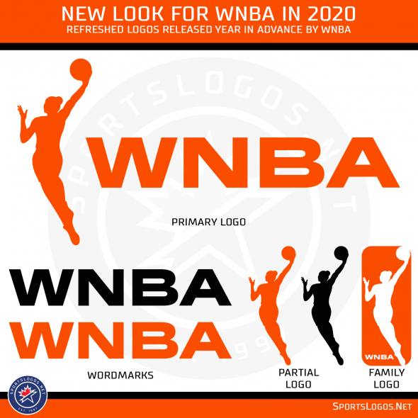 7143ef00fb1 It's the third logo change the WNBA has gone through since its  establishment for the 1997 season. The original logo featured a  red-white-and-blue colour ...