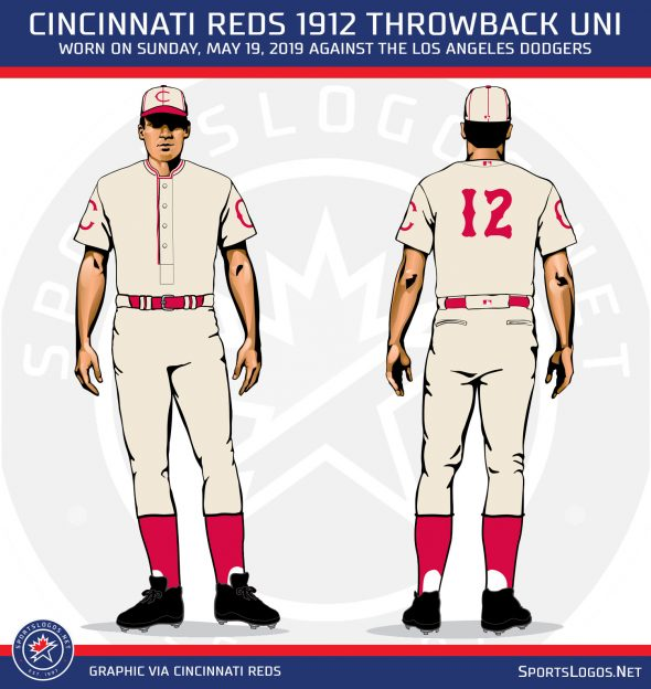 buy online c0668 b2f2d Cincinnati Reds Uniforms Throw it Back to 1912 Sunday ...