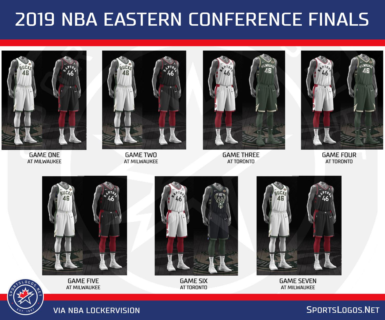 2019 Nba Conference Finals Uniform Schedules Set No Red