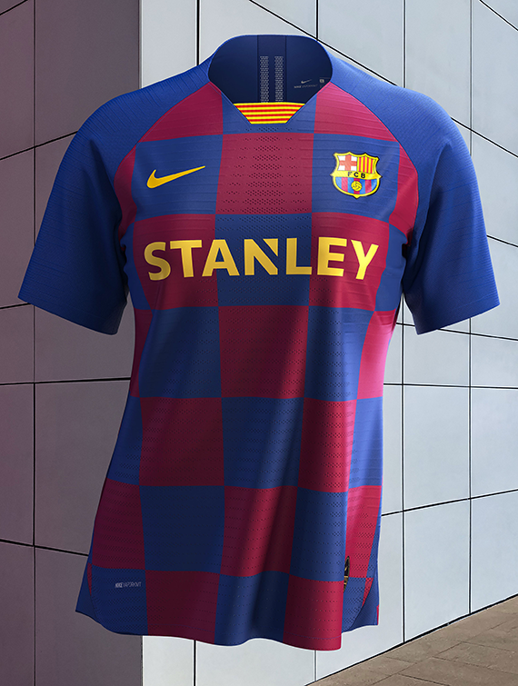Fc Barcelona New Home Kit Inspired By Eixample District Sportslogos Net News