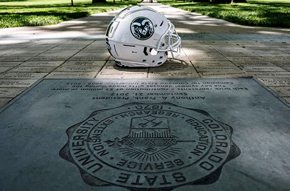 Colorado State Will Celebrate Sesquicentennial With Hornless Homecoming Helmet