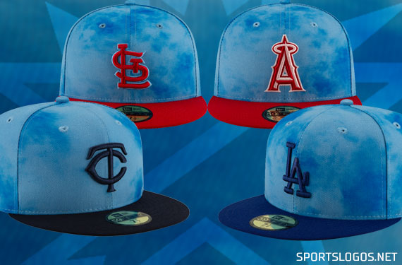 3855f381 Tie-Dyed Blue Caps, Ribbons Across MLB For Father's Day 2019 | Chris ...