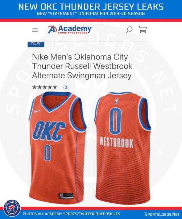 new concept 999ab 70f40 New Uniform Leaks for Oklahoma City Thunder | Chris ...