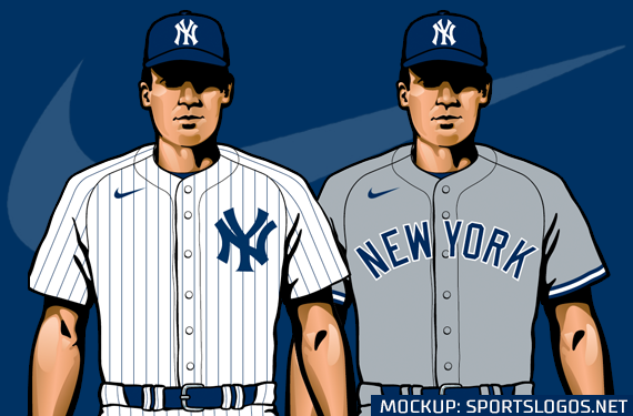 Leaked Graphics Show Nike Swoosh on Yankees Jerseys