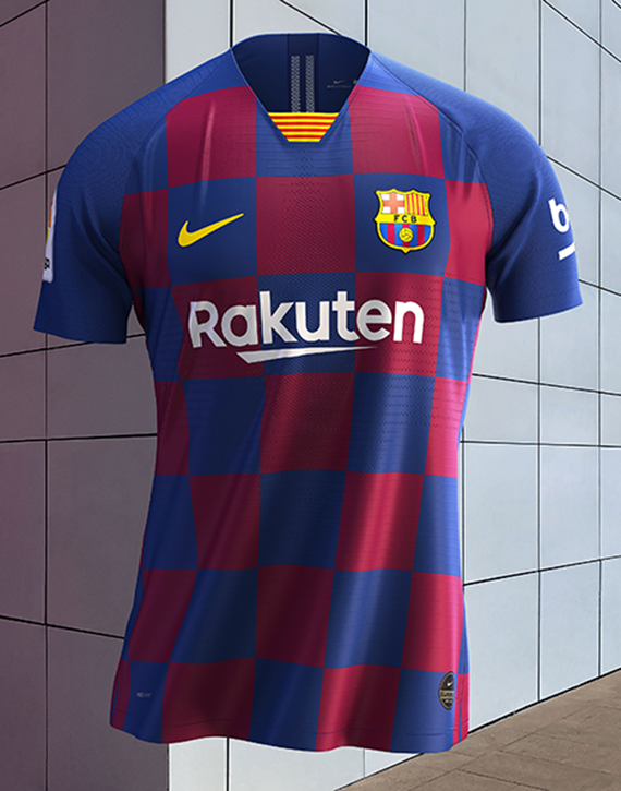 hot sale online 4eb54 7ed70 FC Barcelona: New Home Kit Inspired By Eixample District ...