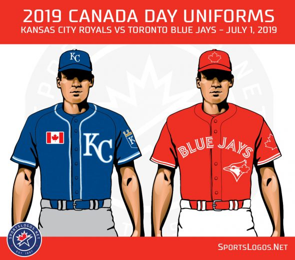 low priced 13fd7 e5ea6 Blue Jays and Royals Both Dress the Part for Canada Day ...