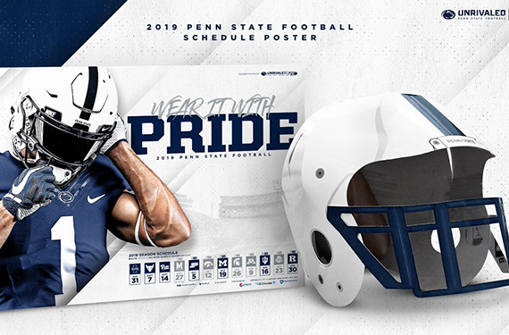 Penn State Schedule Poster Transforms Into Wearable Helmet