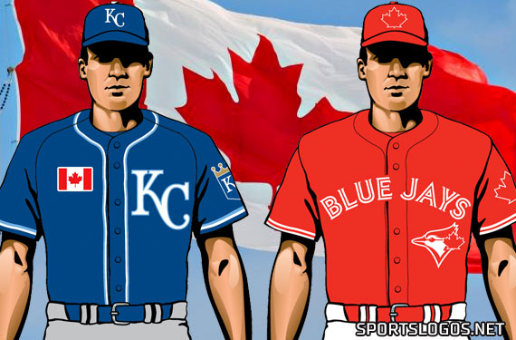 Blue Jays and Royals Both Dress the Part for Canada Day