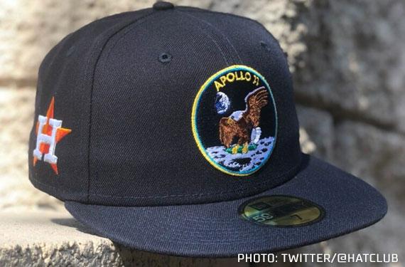 Houston Astros Wear Apollo 11 Caps for 50th Anniversary