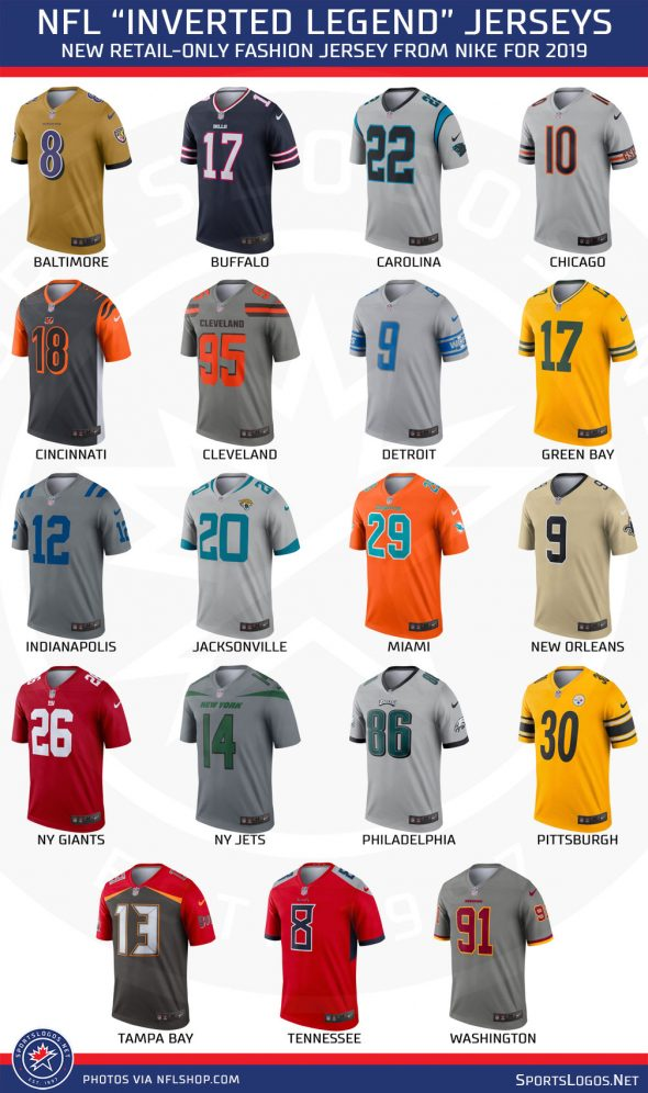 03925f02 NFL, Nike Introduce Inverted Football Jerseys | Chris Creamer's ...