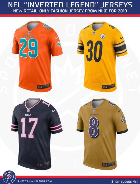 NFL, Nike Introduce Inverted Football Jerseys | Chris Creamer's