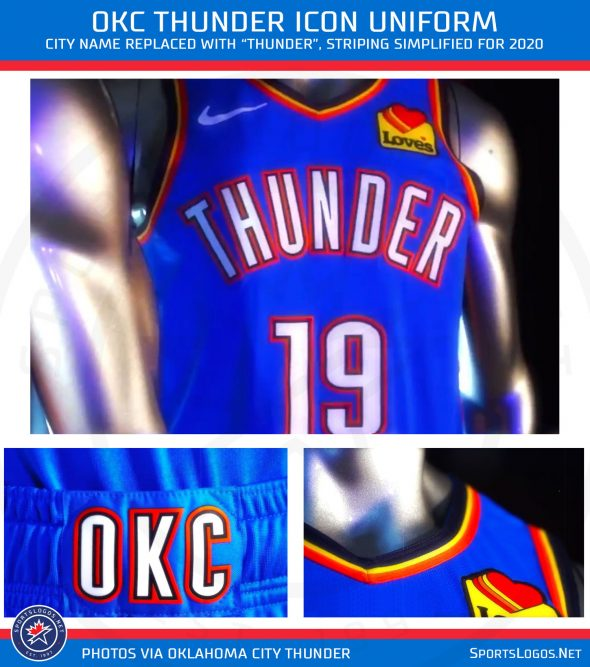 Okc Schedule 2020 OKC Thunder Unveil Four New Uniforms for 2020 | Chris Creamer's