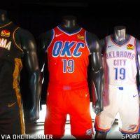 innovative design 68486 cc777 OKC Thunder Unveil Four New Uniforms for 2020 | Chris ...