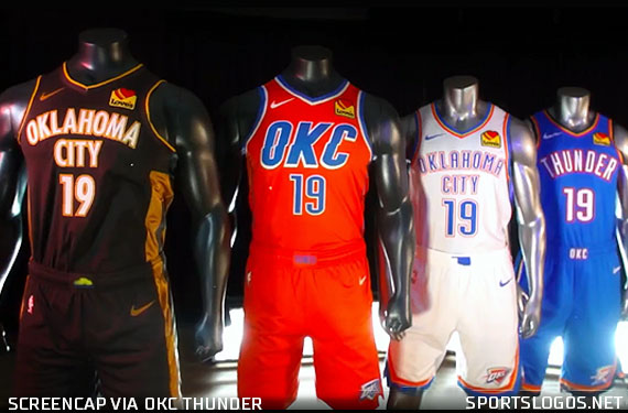 New York Bombing 2020 OKC Thunder Unveil Four New Uniforms for 2020 | Chris Creamer's