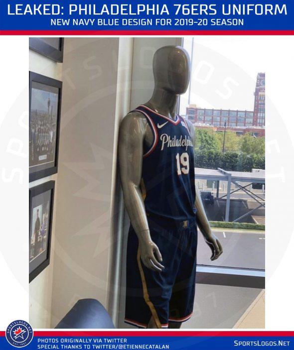 the latest b63e7 67d32 Leak: New Philadelphia 76ers Navy Blue Uniform for 2020 ...