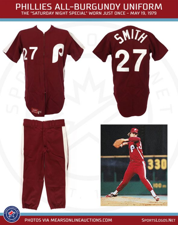 official photos 58249 53e3c Phillies Infamous All-Burgundy Uniforms Return Today ...