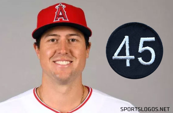 Angels Add '45' Patch in Memory of Tyler Skaggs