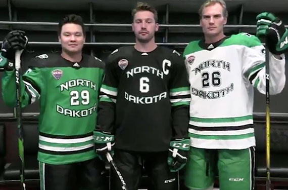 cheap for discount bea25 e20d9 North Dakota Fighting Hawks Unveil New Hockey Jerseys ...