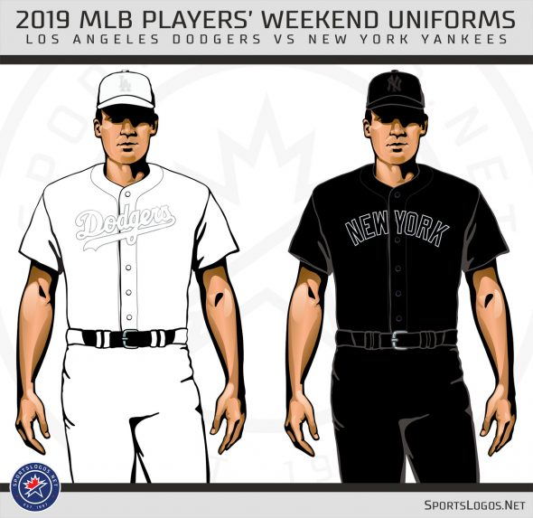 quite nice e8102 1b0b3 MLB Baseball Players Wearing Black and White Uniforms This ...
