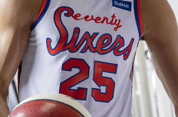 quality design bc55f fe645 Philadelphia 76ers Unveil New Throwback Uniform for 2019-20 ...