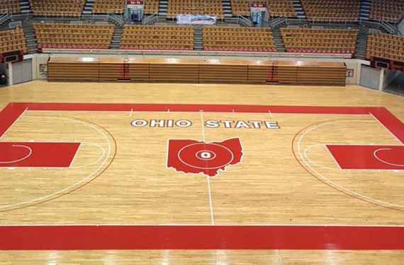 Ohio State Repaints Court At St John Arena To Original
