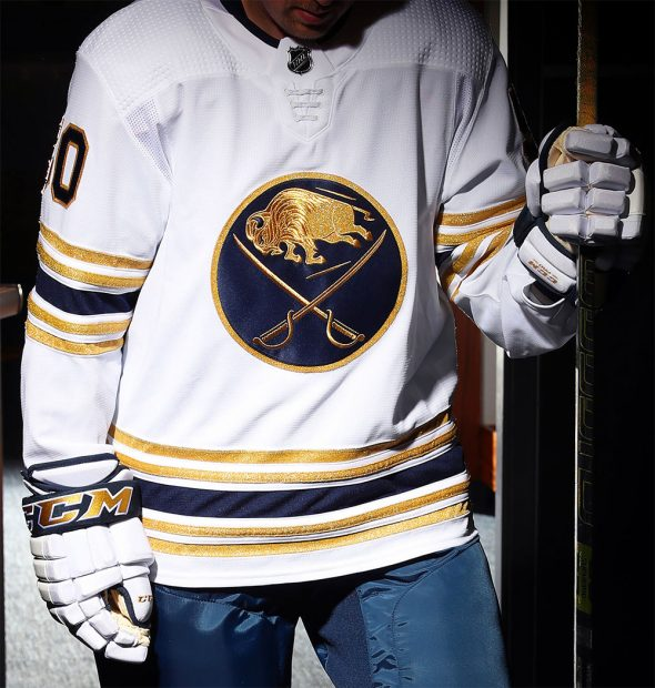 Sabres unveil 50th anniversary Golden Jersey