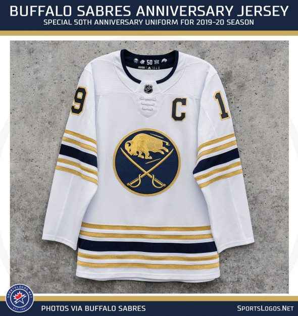 Sabres unveil Golden Jersey to commemorate 50th anniversary