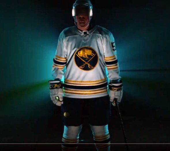 Sabres Unveil Golden Jersey To Celebrate 50th Anniversary
