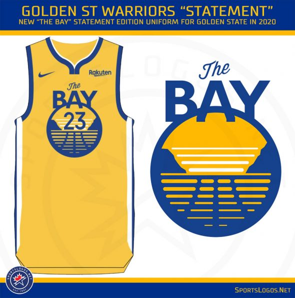 best loved e326c 29f91 Golden State Warriors Unveil Six New Uniforms for 2019-20 ...