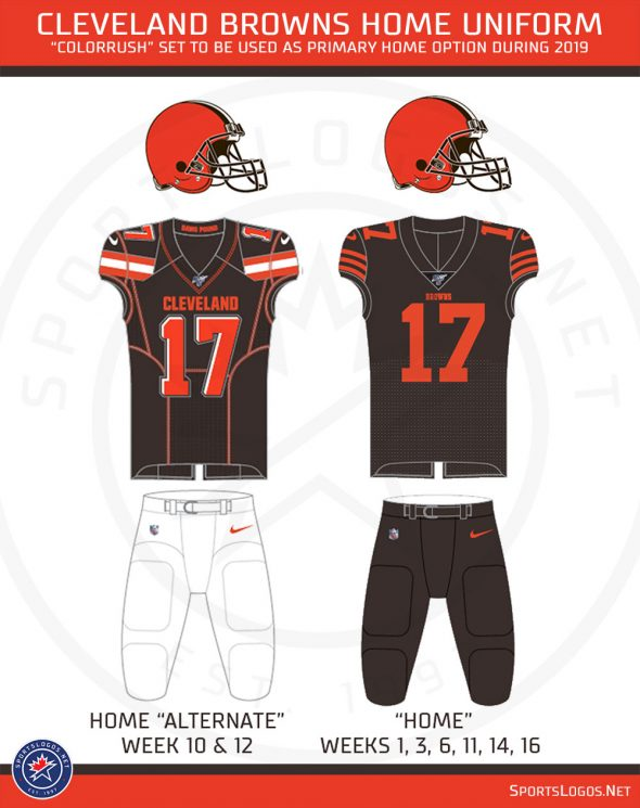 Cleveland Browns Swap Uniforms Colorrush Now Primary Home