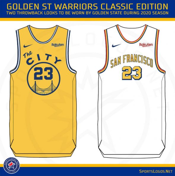 best loved 694fe be3a5 Golden State Warriors Unveil Six New Uniforms for 2019-20 ...