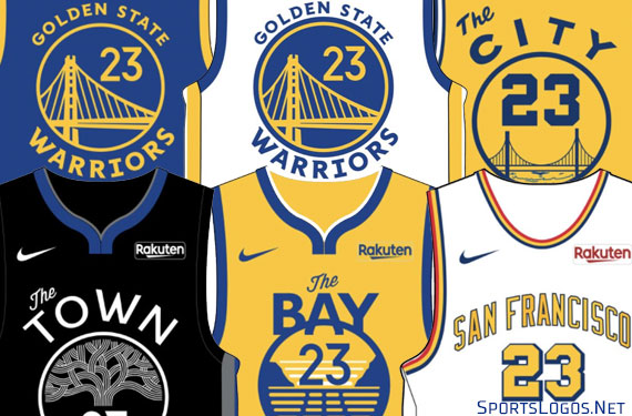 best loved c45b9 3f58b Golden State Warriors Unveil Six New Uniforms for 2019-20 ...