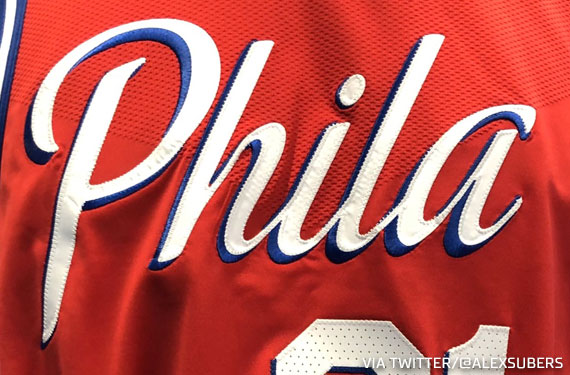 official photos 6ae4e e8206 Sixers Getting New Red Uniform in 2020 | Chris Creamer's ...