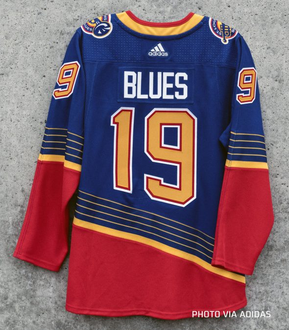 the best attitude 9d64d 55d65 St Louis Blues Bring Back 90s Trumpet Uniforms for Three in ...