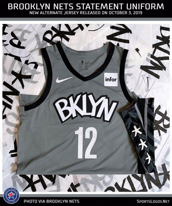 Brooklyn Nets Unveil New Bklyn Statement Uniform Sportslogos Net News