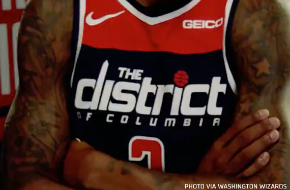 "Wizards Unveil New, Blue ""District"" Statement Uniform"