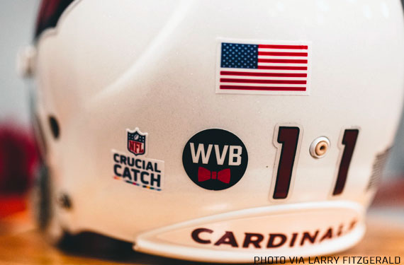 Arizona Cardinals Add WVB Helmet Decal for Owner Bill Bidwill