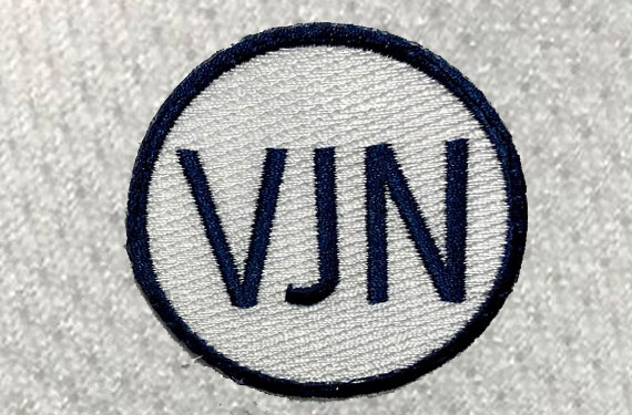 Tampa Bay Rays Wearing VJN Patch on Uniform